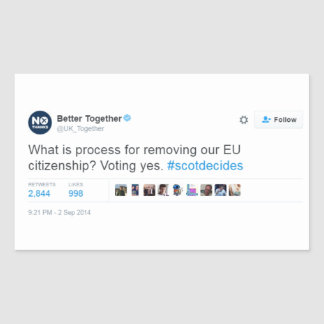 Better Together Lie Rectangular Sticker