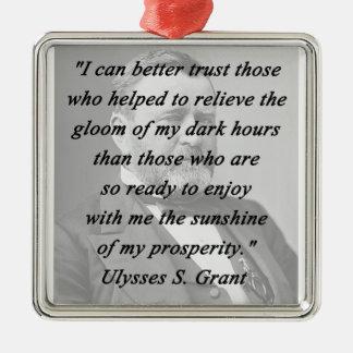 Better Trust - Ulysses S Grant Metal Ornament