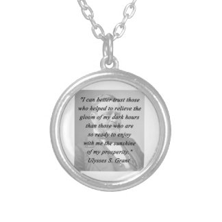 Better Trust - Ulysses S Grant Silver Plated Necklace