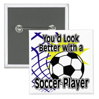 Better with a Soccer Player Pinback Button