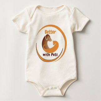 Better with Pets Rompers (Baby) Baby Bodysuit