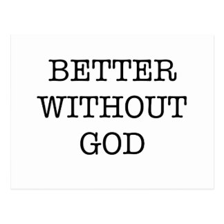 better without god post cards