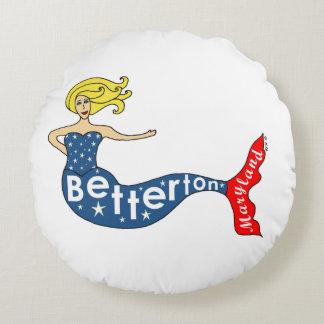 Betterton, Maryland Mermaid Round Cushion