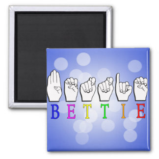 BETTIE ASL FINGERSPELLED NAME SIGN MAGNET