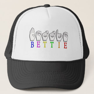 BETTIE ASL FINGERSPELLED NAME SIGN TRUCKER HAT