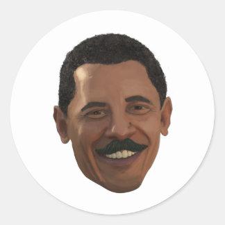 Bettter Mustache Classic Round Sticker