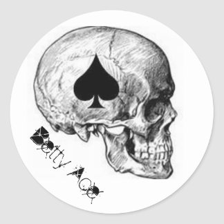 Betty Ace Of Spades Skull Sticker