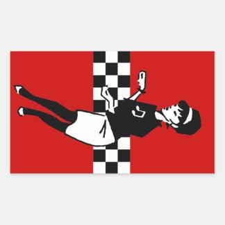 Betty Beat in Red Rectangular Sticker