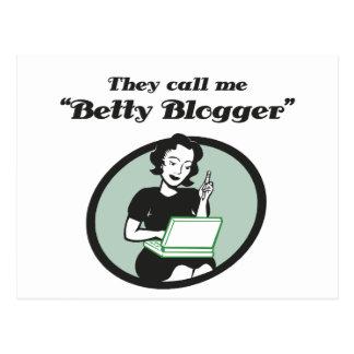 Betty Blogger Postcard