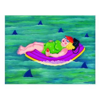 Betty Drifts Away Postcard