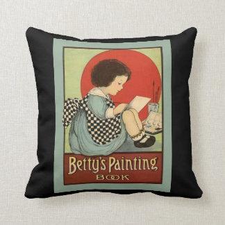 Bettys Painting Book Cushion