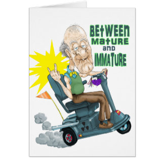 Between Mature and Imature Greeting Card