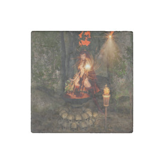 Beuatiful witch stone magnet