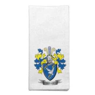Bevan Family Crest Coat of Arms Napkin