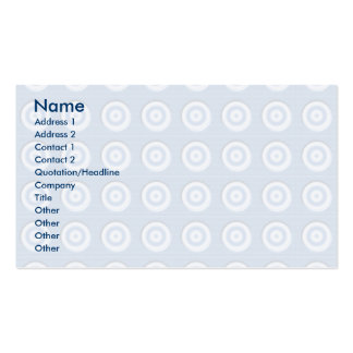 Beveled blue white circles pattern pack of standard business cards