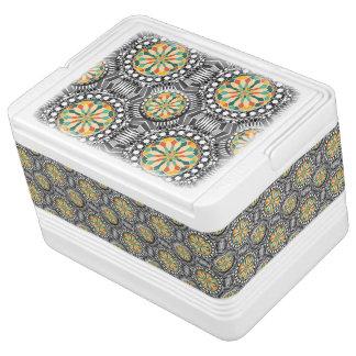Beveled geometric pattern cooler