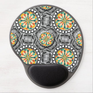 Beveled geometric pattern gel mouse pad