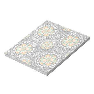 Beveled geometric pattern notepad