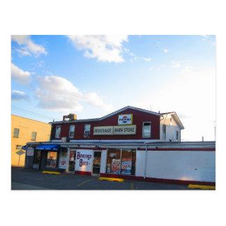 Beverage Barn on Willis Avenue Postcard
