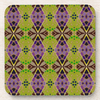 Beverage Coasters with Olive Pattern
