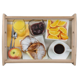 Beverages Fruit and Rolls Small Serving Tray