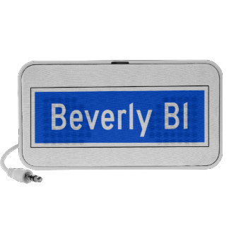 Beverly Boulevard, Los Angeles, CA Street Sign iPod Speakers