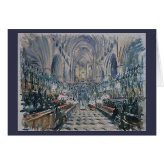 Beverly minster - evensong card