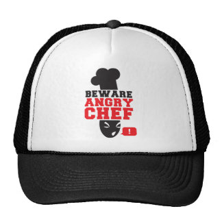 BEWARE ANGRY CHEF! cook cooking Mesh Hats