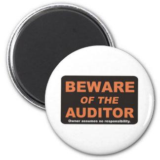 Beware / Auditor 6 Cm Round Magnet