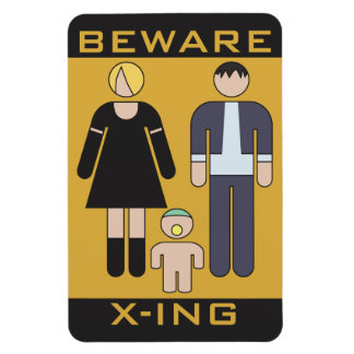 Beware Demons Rectangular Photo Magnet