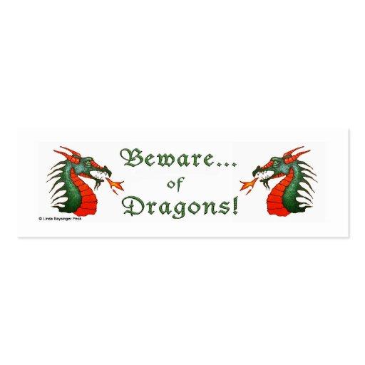 Beware Dragons Business Card