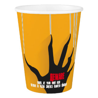 Beware. Drink at your own risk. Paper Cup