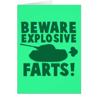 Beware EXPLOSIVE FARTS! Card