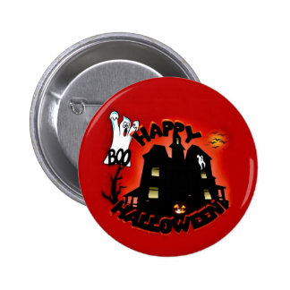 Beware! Haunted House - Enter at Your Own Risk! 6 Cm Round Badge