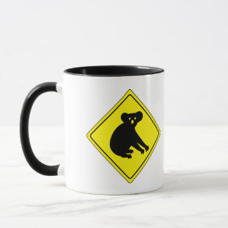 Beware Koalas, Traffic Warning Sign, Australia Mug