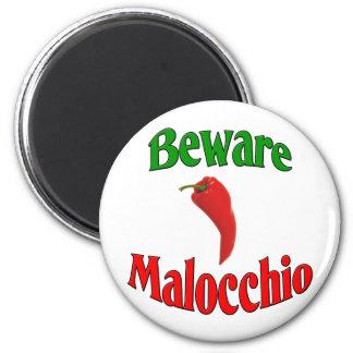 Beware Malocchio (Evil Eye) 6 Cm Round Magnet