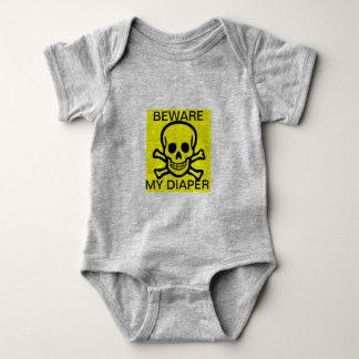 Beware My Diaper Baby Bodysuit