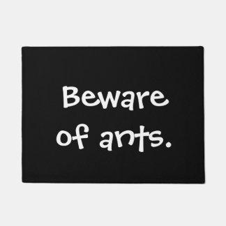 Beware of ants doormat