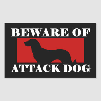 Beware of Attack Dog - Anatolian Shepherd Dog Rectangular Sticker