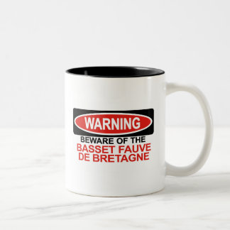 Beware Of Basset Fauve De Bretagne Two-Tone Coffee Mug