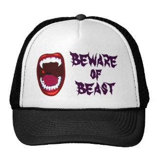 Beware of Beast Vampire Teeth Demon Fangs Horror Cap