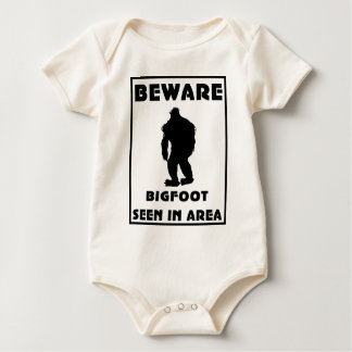 Beware of BigFoot Poster Baby Bodysuit