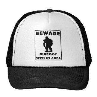 Beware of BigFoot Poster Trucker Hats
