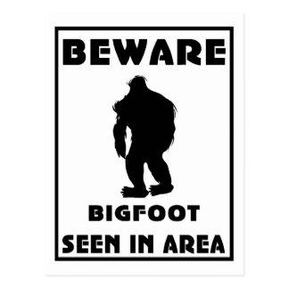 Beware of BigFoot Poster Postcard