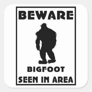 Beware of BigFoot Poster Round Sticker