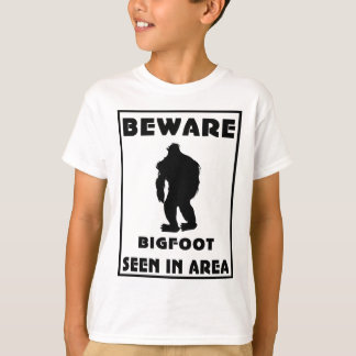 Beware of BigFoot Poster T-Shirt