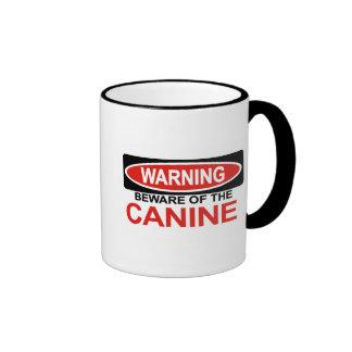Beware Of Canine Coffee Mugs