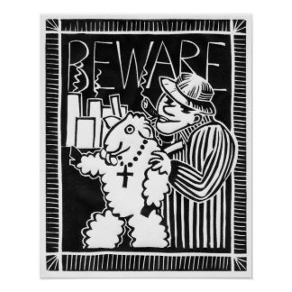 Beware of Capitalists in Sheep's Clothing! Protest Poster