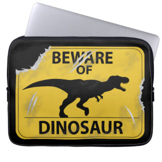 Beware of Dinosaur (damaged) Laptop Sleeve