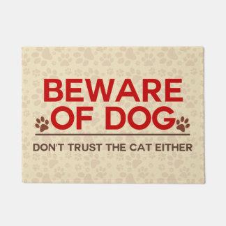 Beware of Dog and Cat Doormat